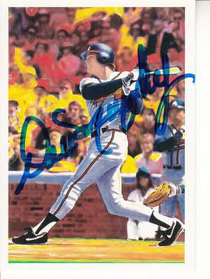 Dale Murphy autographed Atlanta Braves 1990 Scoremasters card (MLB authenticated)