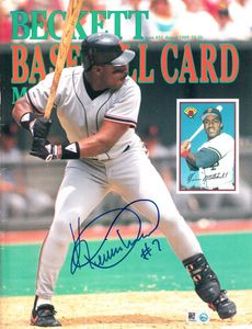 Kevin Mitchell autographed San Francisco Giants 1989 Beckett Baseball cover (MLB authenticated)