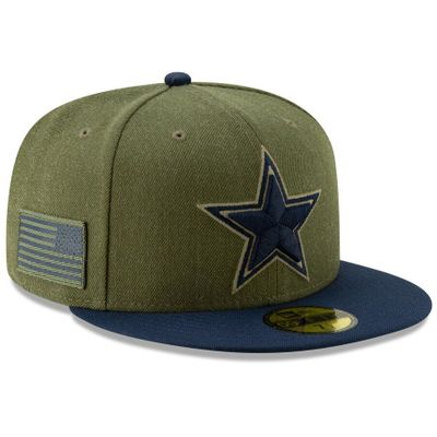 Dallas Cowboys Salute to Service 2018 New Era fitted cap or hat NEW