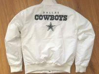 Dallas Cowboys NFL Team Apparel white size small jacket BRAND NEW WITH TAGS