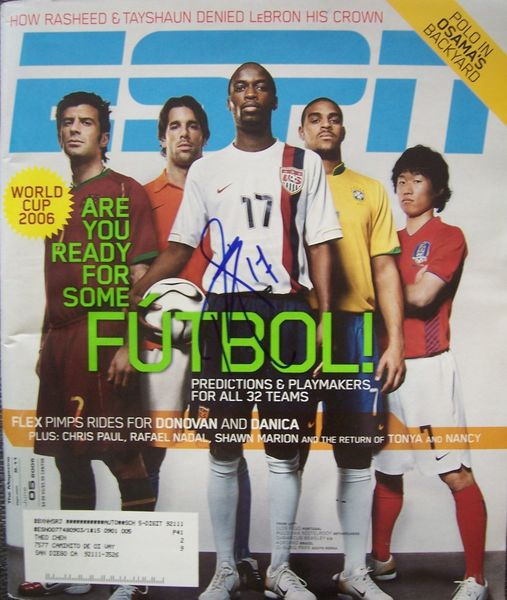 DaMarcus Beasley autographed U.S. Soccer 2006 World Cup ESPN Magazine