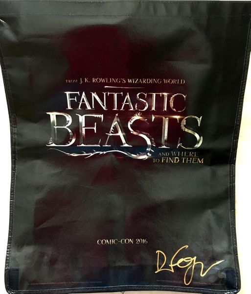 Dan Fogler autographed Fantastic Beasts and Where to Find Them movie huge promo bag or backpack