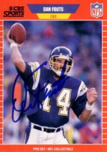 Dan Fouts autographed San Diego Chargers 1989 Pro Set Announcers card
