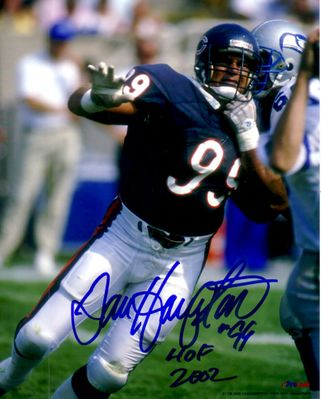 Dan Hampton autographed Chicago Bears 8x10 photo inscribed HOF 2002