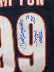 Dan Hampton autographed Chicago Bears authentic Nike stitched jersey inscribed Super Bowl XX Champion
