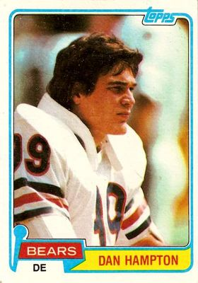 Dan Hampton Chicago Bears 1981 Topps Rookie Card #316 Ex