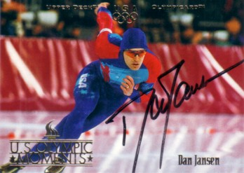 Dan Jansen autographed speed skating 1996 Upper Deck U.S. Olympic card