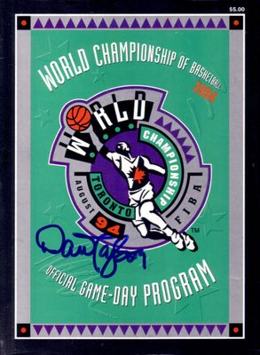 Dan Majerle autographed Dream Team 2 1994 World Basketball Championship program