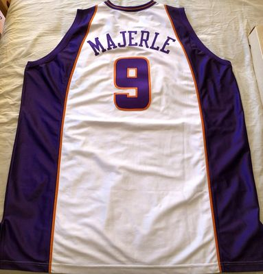 Dan Majerle Phoenix Suns 2001-02 LAST SEASON authentic Champion white game model stitched jersey