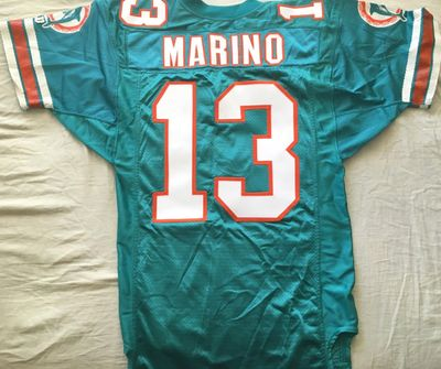 Dan Marino Miami Dolphins 1994 original authentic Wilson game model double stitched size 42 jersey