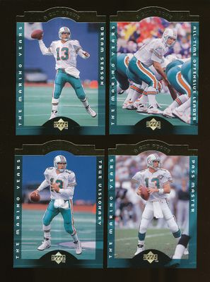 Dan Marino Miami Dolphins 1996 Upper Deck A Cut Above 10 card set