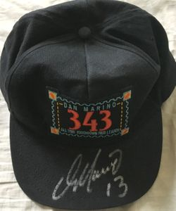 Dan Marino autographed 343 All Time Touchdown Pass Leader UDA commemorative cap or hat