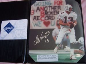 Dan Marino autographed Miami Dolphins Career Touchdown Pass #343 8x10 photo UDA