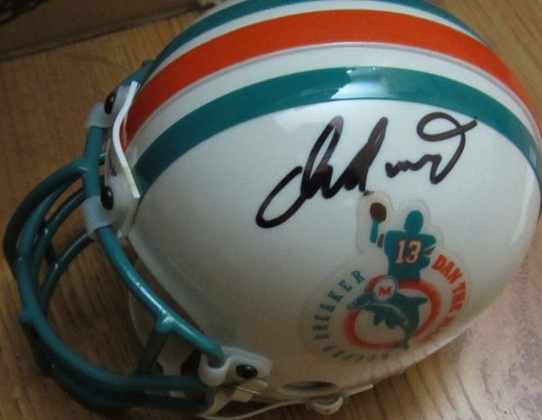 Dan Marino autographed Miami Dolphins Dan the Man authentic Riddell mini helmet