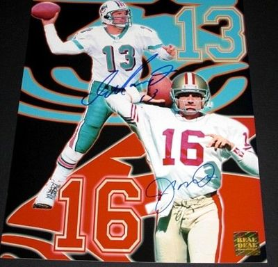 Dan Marino and Joe Montana autographed 8x10 photo (Real Deal Memorabilia)