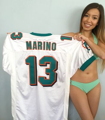 Dan Marino Miami Dolphins authentic Ripon white stitched 1999 last season style jersey NEW