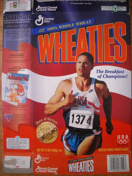 Dan O'Brien 1996 Olympic decathlon commemorative Wheaties box