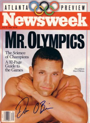 Dan O'Brien autographed 1996 Olympics Preview Newsweek magazine cover