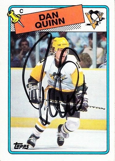 Dan Quinn autographed Pittsburgh Panthers 1988-89 Topps card