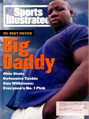 Dan Wilkinson autographed Ohio State Buckeyes 1994 Sports Illustrated magazine