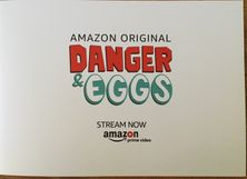 Danger and Eggs cast autographed 2017 Comic-Con original cel artwork in frame (Aidy Bryant Jasika Nicole)