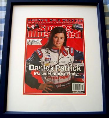 Danica Patrick autographed 2005 Sports Illustrated cover matted and framed