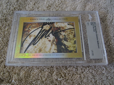 Daniel Dae Kim 2015 Leaf Masterpiece Cut Signature certified autograph card 1/1 LOST Hawaii Five-0