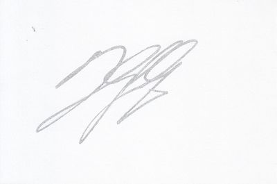 Danilo Gallinari autographed 4x6 index card