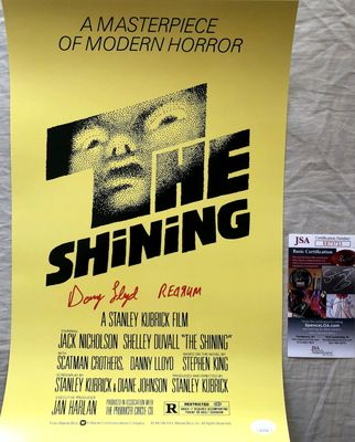 Danny Lloyd autographed The Shining mini 12x18 movie poster inscribed REDRUM (JSA)