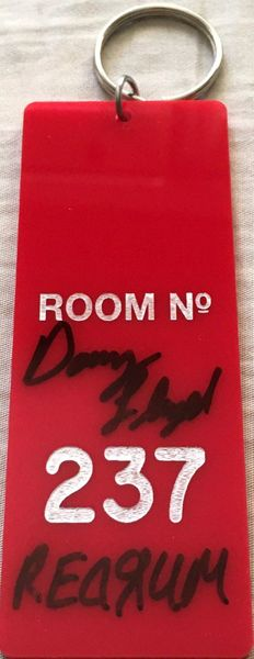 Danny Lloyd autographed The Shining movie Room 237 key fob inscribed REDRUM