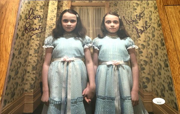 Lisa Burns and Louise Burns autographed The Shining 11x14 inch movie photo (JSA)