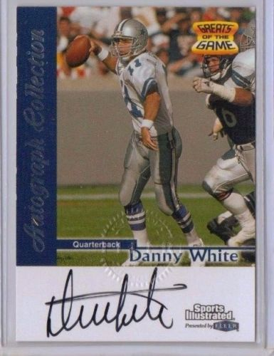 Danny White Dallas Cowboys certified autograph 1999 Fleer Sports Illustrated card