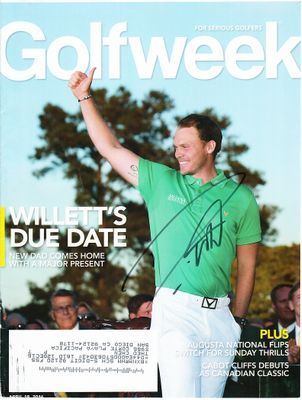 Danny Willett autographed 2016 Masters Golfweek magazine cover