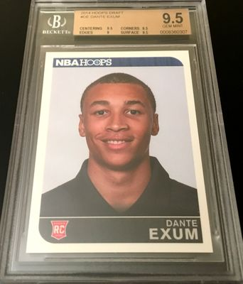 Dante Exum 2014 Panini Hoops Summer League NBA Draft Rookie Card RC graded BGS 9.5 GEM MINT