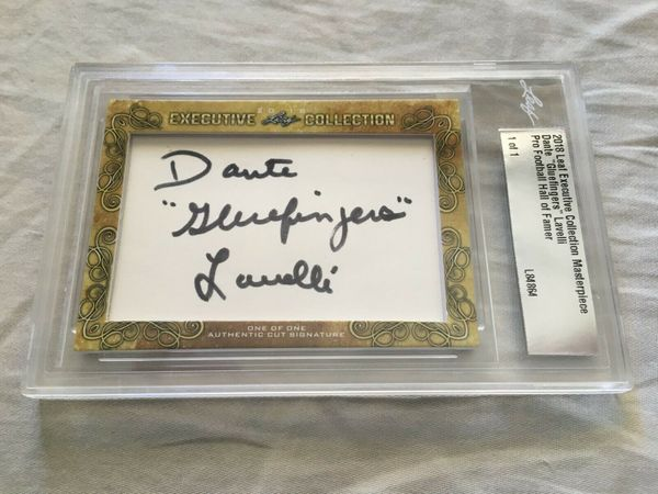 Dante Lavelli 2018 Leaf Masterpiece Cut Signature certified autograph card 1/1 JSA