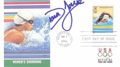 Dara Torres autographed swimming 1996 U.S. Olympic Team USPS First Day Cover