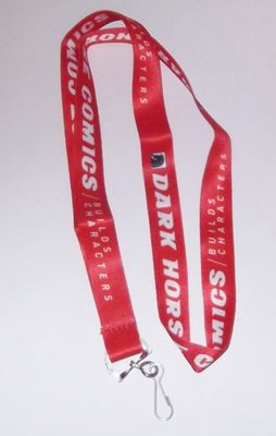 Dark Horse Comics red fabric lanyard NEW