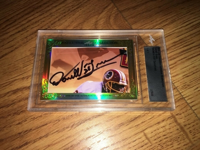 Darrell Green 2015 Leaf Masterpiece Cut Signature certified autograph card 1/1 JSA