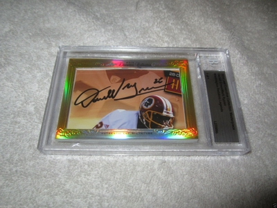 Darrell Green and Mark Rypien 2014 Leaf Masterpiece Cut Signature certified autograph card 1/1 JSA