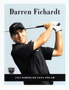 Darren Fichardt 2004 Nike Golf card