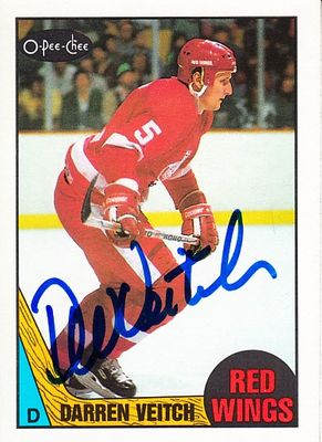 Darren Veitch autographed Detroit Red Wings 1987-88 O-Pee-Chee card