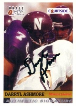 Darryl Ashmore Northwestern certified autograph 1992 Courtside card