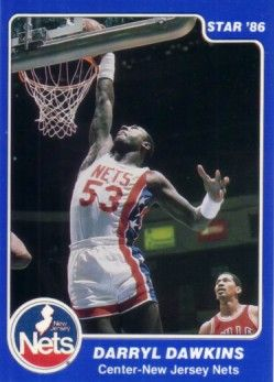 Darryl Dawkins New Jersey Nets 1986 Star Lifebuoy card