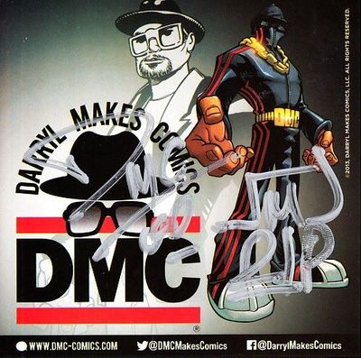 Darryl McDaniels autographed Run-DMC 2014 Comic-Con 5x5 decal