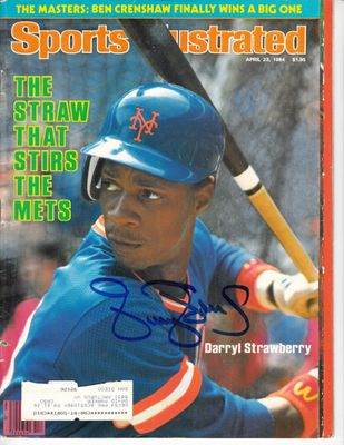 Darryl Strawberry autographed New York Mets 1984 Sports Illustrated