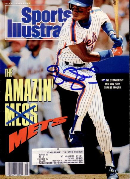 Darryl Strawberry autographed New York Mets 1990 Sports Illustrated