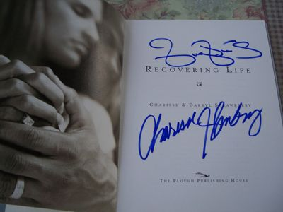 Darryl Strawberry autographed Recovering Life hardcover book