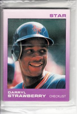 Darryl Strawberry New York Mets 1988 Star Company complete 11 card set
