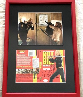Daryl Hannah and Uma Thurman autographed Kill Bill movie DVD cover matted and framed with 8x10 photo (JSA)