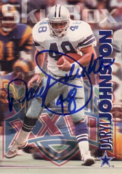 Daryl (Moose) Johnston autographed Dallas Cowboys 1993 SkyBox card